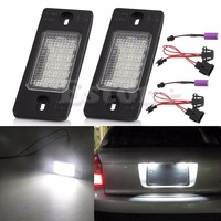 2pcs 18 LED Number License Plate LED Light Lamp For Porsche Cayenne VW Touareg Triple Brightness