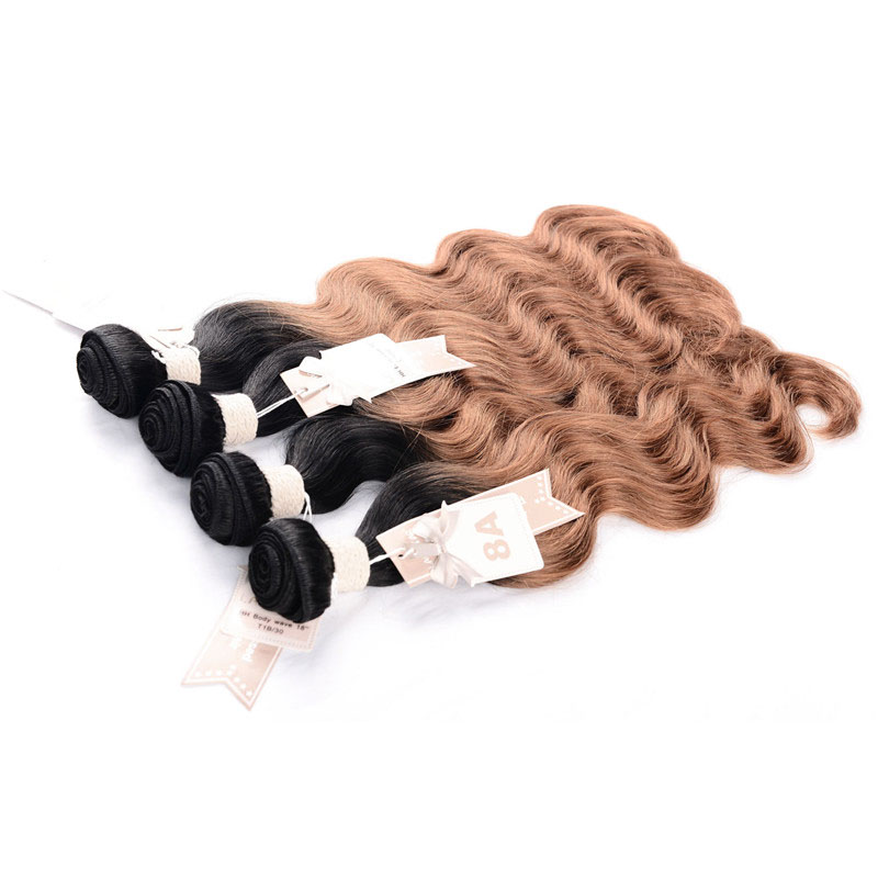 CHOCOLATE Malaysian Body Wave Hair Bundles 10~26 Inch Ombre Color 100% Human Hair Weaving Free Shipping