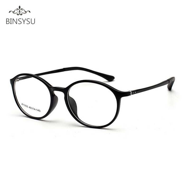TR90 Prescription optique lunettes cadres Hommes Plaine de Miroir Ultra-léger De Tungstène Myopie Lunettes cadre oculos de grau redondo