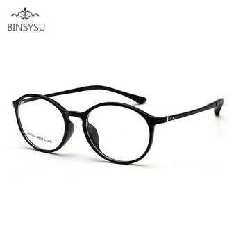 11e7d1a153 Tr90 prescripción ojo óptico Gafas marcos hombres llanura espejo tungsteno  ultraligero miopía Gafas marco oculos de Grau redondo