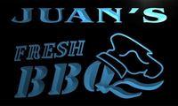X0052 Tm Juan S Fresh BBQ Shop Custom Personalized Name Neon Sign Wholesale Dropshipping