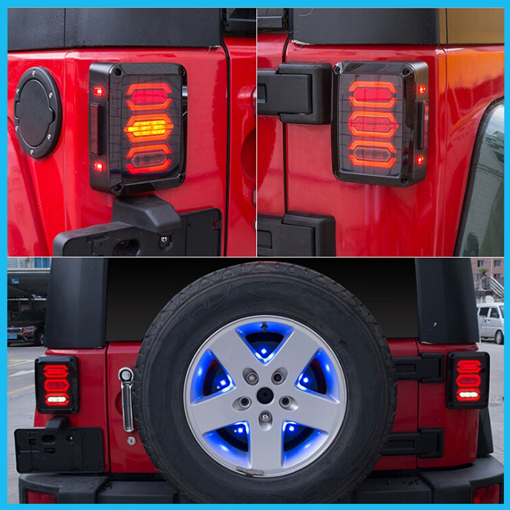 Image 5 - HJYUENG LED 2007 2016 For Jeep Wrangler with Running Brake Backup Reverse Turning Signal Light Tail Lamp Assembly-in Car Light Assembly from Automobiles & Motorcycles