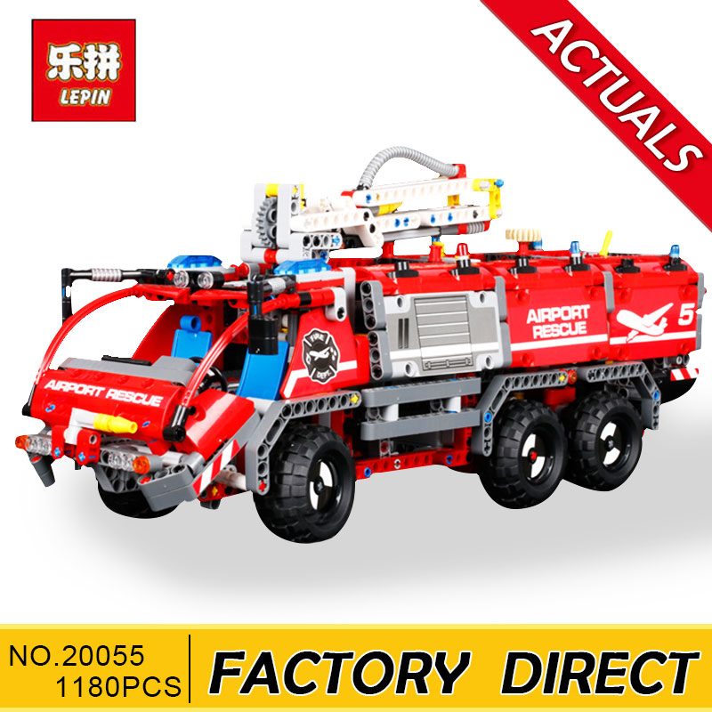 Lepin Technic 20055 Mechanical Series the Rescue fire Vehicle Building Blocks Bricks Educational Toys Compatible technic 42068 lepin 20055 city technic mechanical fire accident the rescue vehicle building blocks bricks educational toys for children gifts