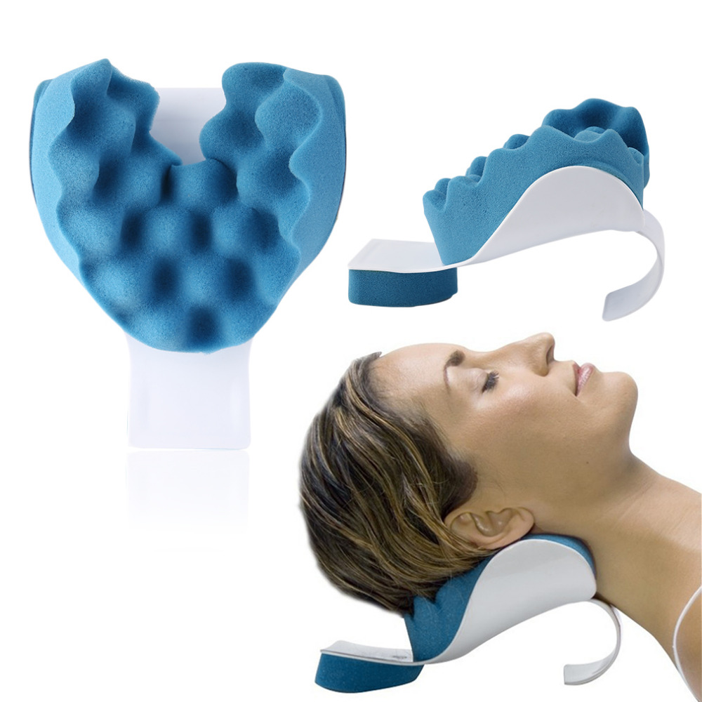 Travel Neck Pillow Theraputic Support Tension Reliever Neck Shoulder Relaxer Massager Pillow Soft Sponge Releases muscle Pillow