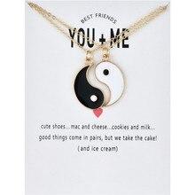 Joyería de moda YOU ME Ying Yang collares de declaración Taiji Bagua joyería con amuleto colgante para los amantes collar masculino mujeres