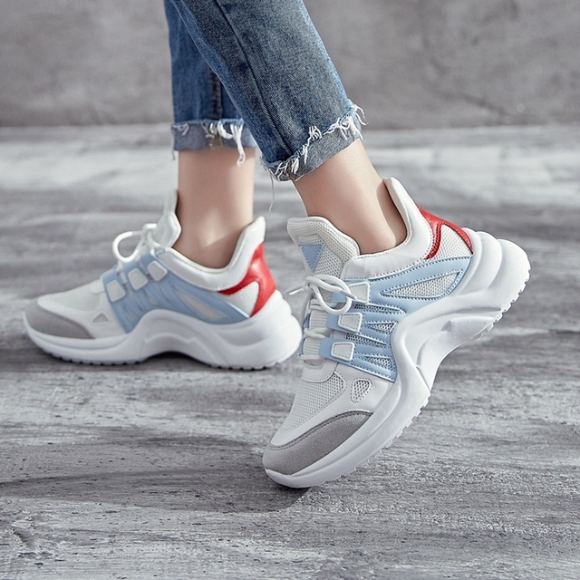 YRRFUOT Sneakers For Women Outdoor Air Mesh Solf Woman Fashion Sneaker Vulcanized Shoes Zapatos Mujer Sneakers For Women Trend