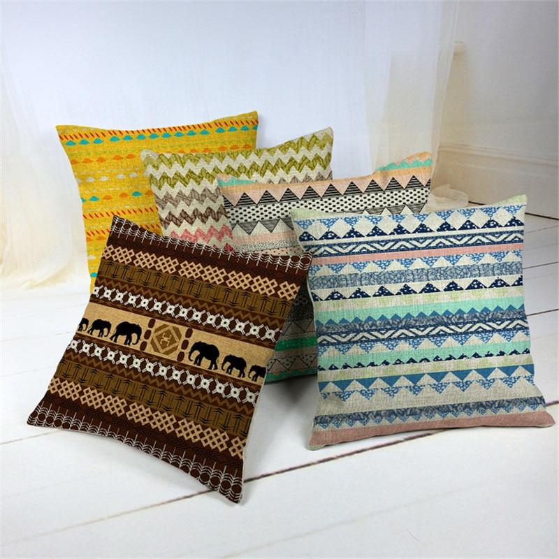 Indian Style Geometry Cushions Elephant Morocco Pillowcases Diamond Beauty Chair Decorat ...