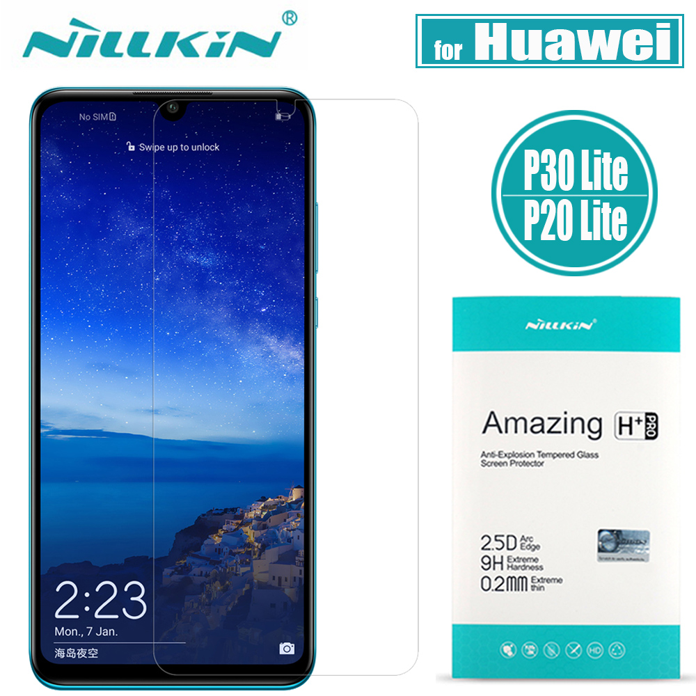 Nilkin Huawei P30 Lite Tempered Glass P20 Lite Screen Protector Nillkin 9H  Hard Clear Glass Film for Huawei Nova 4e / Nova 3e