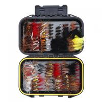 120pcs Fly Fishing Lures Simulation Flies Butterfly Hook Trout Lures Fishing Bait Kit with Waterproof Case