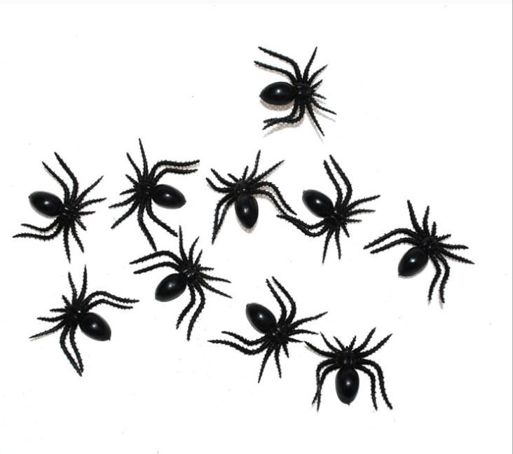 Aggressive 50pcs/lot Halloween Decorative Spiders 2cm Small Black Plastic Fake Spider Toys Novelty Funny Joke Prank Realistic Props Toys & Hobbies Gags & Practical Jokes