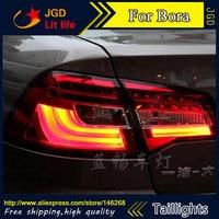 Free Shiping 12V 6000k LED Rear Light For VW Volkswagen Bora 2013 2014 Taillight Lamps Auto