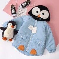 Baby Boys girls jacket toddler baby boys girls thicken autumn jacket cartoon rabbit penguin design cute children outwear