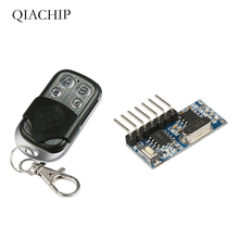 QIACHIP 433mhz RF Relay Receiver Switches Module Wireless 4 CH Output Learning Button and 433 Mhz Remote Controls Transmitter