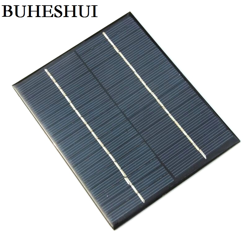 BUHESHUI 18V 2W Mini Solar Cell DIY Polycrystalline Solar Panel Solar Power Battery Charger 110*136*3MM Epoxy Wholesale 10pcs-in Solar Cells from Consumer Electronics    1