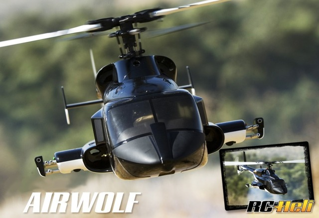 RC helicopter fuselage Airwolf 600 W/Retracts airwolf600
