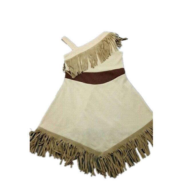Niñas verano Tissuel Pocahontas vestido princesa niños fiesta Cosply ...