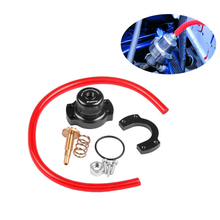 Adjustable FPR Fuel Pressure Regulator Riser Gauge Kit For Honda Acura 90-00 speedwow aluminum adjustable frp fuel pressure regulator kit for honda acura dohc b16 b18 f20