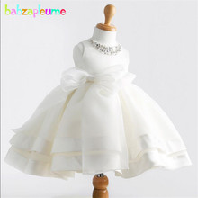 2019 Kids Girls Dress Toddler Clothes White Birthday Party Princess Children Costume Baby Girls tutu Dress Infant Summer BC1412 недорго, оригинальная цена