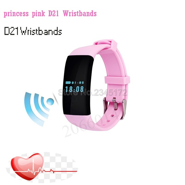 D21 DFit Smart Bracelet Pedometer Bracelet Activity Fitness Tracker Sports Rhythm Heart Watch Bracelet For IOS Android