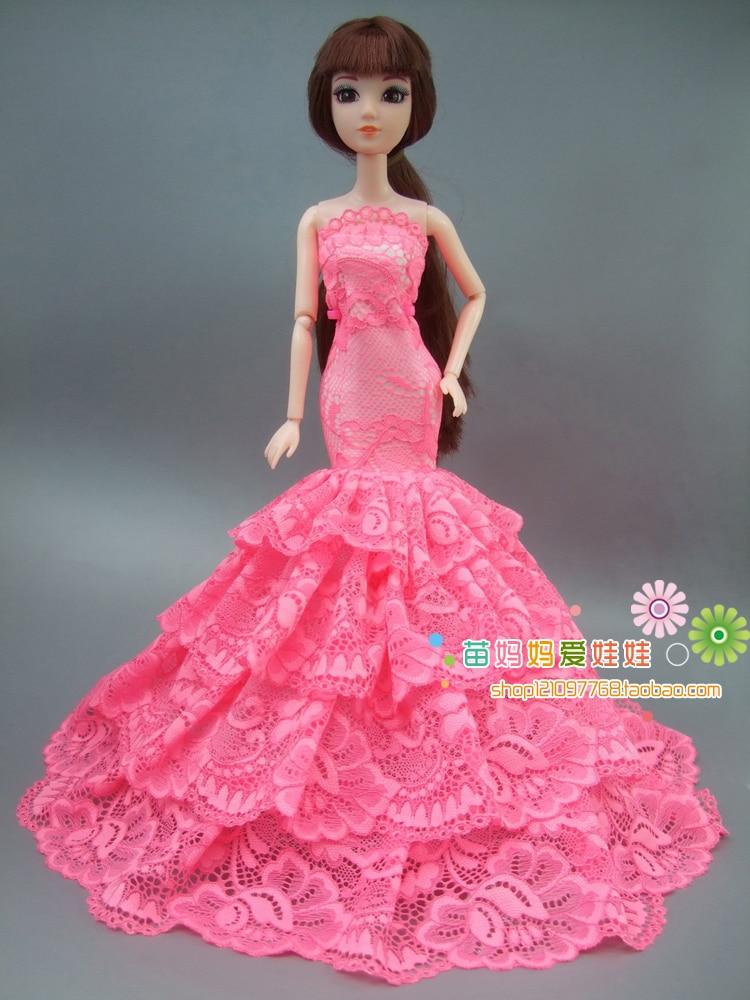 Lyx brud brudklänning Elegant prinsessa klänning Outfit för Barbie - Dockor och tillbehör - Foto 3