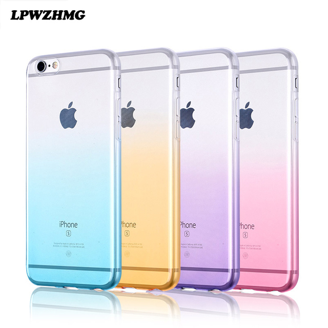 sports shoes e98cf ab4a5 US $1.18 49% OFF|High Quality TPU Case for Apple IPhone 7 Soft Silicone  Cellphone Covers for The Iphone 6 6s Gradient Color Ultrathin Phone  Cases-in ...