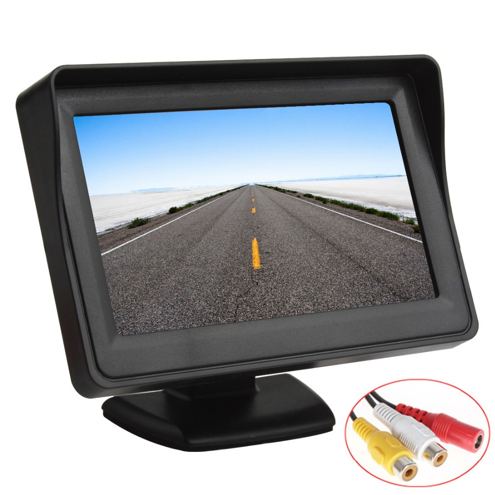 Sale 4.3 Inch Color TFT LCD Car Monitor 480x272 Digital Panel With 2Ch Video Input For Rear View Camera Or DVD GPS