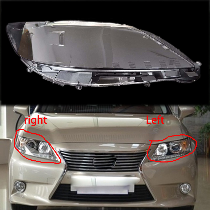 1PCS For LEXUS ES250 ES350 2013 2014Transparent Plexiglass Lampshade Headlight Shell Headlamp Cover lamp shade