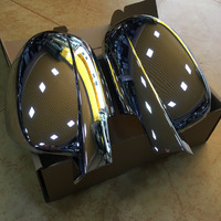 Car Styling 2x Chrome Silver Mirror Cover Tirms For Chevrolet Tahoe 2008 2009 2010 2011 2012 2013 2014