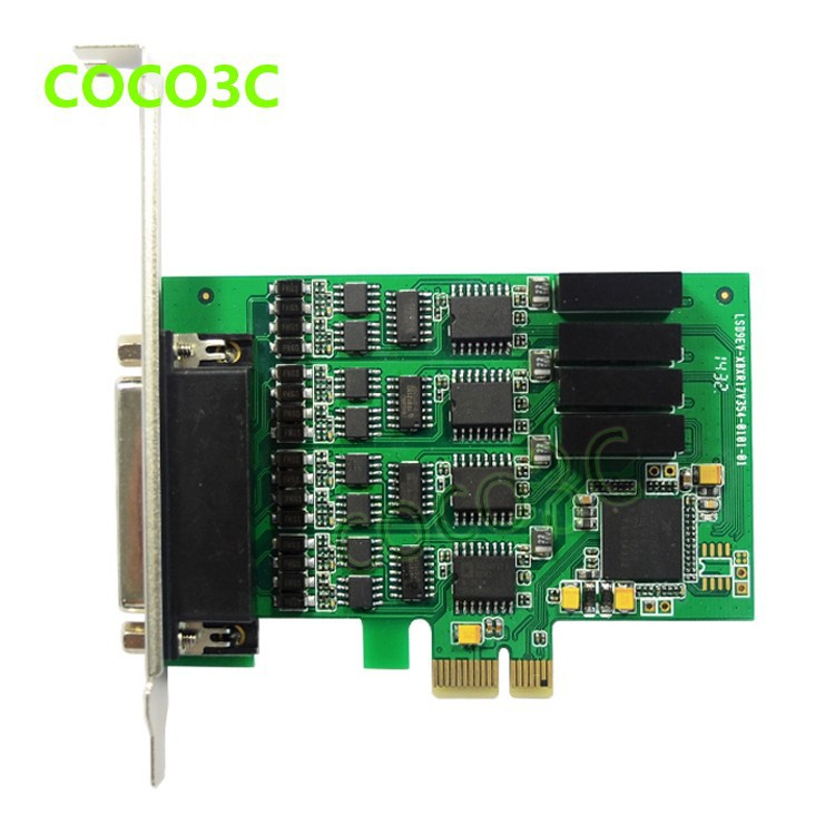 PCI express 4 ports Serial RS422 RS485 card PCI-e to Multi RS-422 RS-485 adapter PCIe Industrial IO Card + low profile bracket (7)