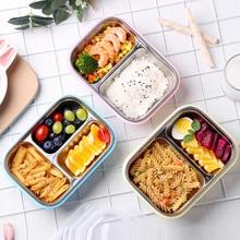 Дети ланч бокс 304 Нержавеющая Сталь Bento box японский контейнер для еды термос для еды детская посуда термальность студентов пикник посуда хранения