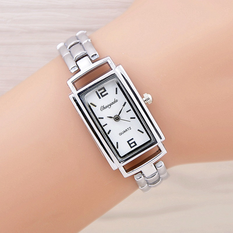New Watches Women Fashion Clock Ladies Silver Elegant Bracelet Watch Montre Femme Women's Wrist Quartz Watch Relojes Mujer 2017