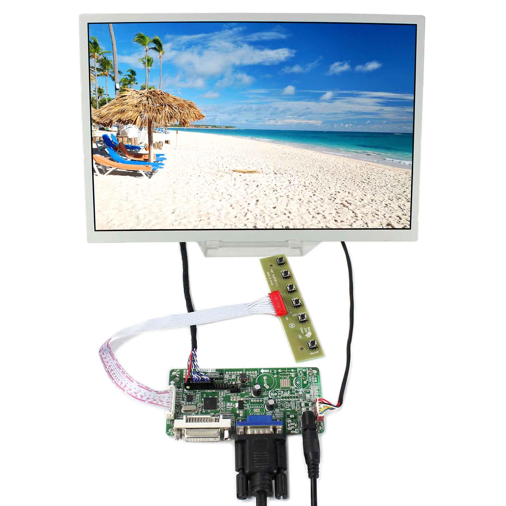цена DVI+VGA LCD Controller Board 12.1inch 1280x800 LQ121K1LG52 LCD Screen