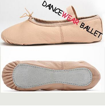 лучшая цена New Free Shipping Kids Full Sole Soft Leather Ballet Slippers Child Infant Ballet Shoes Toddler Ballet Shoes For Girls