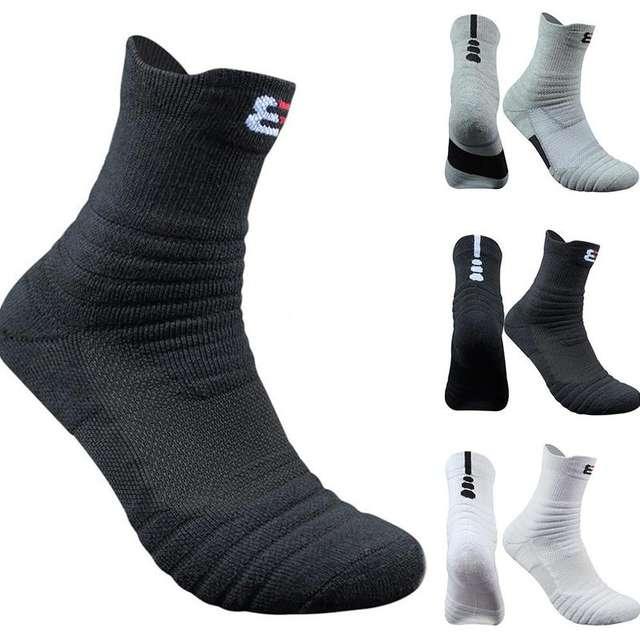 Casual men Socks Man Long Thickening Towel Bottom Cotton Socks Outdoors Run Badminton Tennis Sport Socks Men Meias Masculino