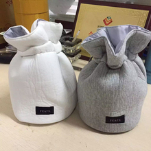 DUDINI New Korean Fashion Wash Bag Cotton Underwear Storage Bag Cylindrical Finishing Travel Wash Drawstring Package