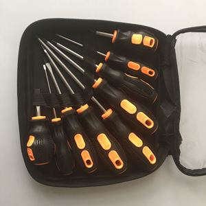 Image 5 - 9PCS screwdriver set Cr  V Screw Driver Destornillador chave de fenda papelaria With rubber wrapped handle and Bag