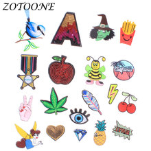 Iron on Patches for Clothing Letter Sequin Animal Bird Pineapple Applique Embroidery Flower Clothes Decoration