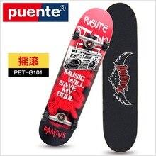 FreeShipping quality Special grade Canadian Maple Graffiti SkateBoard LongBoard DoubleRocker Monopatin street skate skateboard