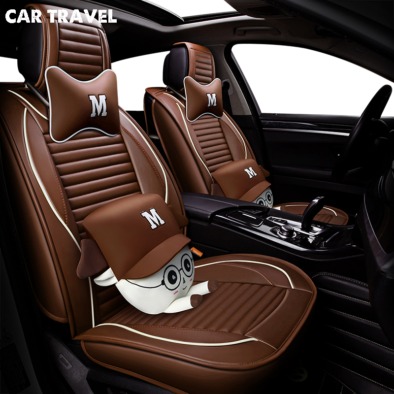 Pu Cuir housse de siège de voiture Pour ford mondeo 4 kia spectra ssangyong actyon volvo s80 vw polo 9n logan auto accessoires de voiture-style