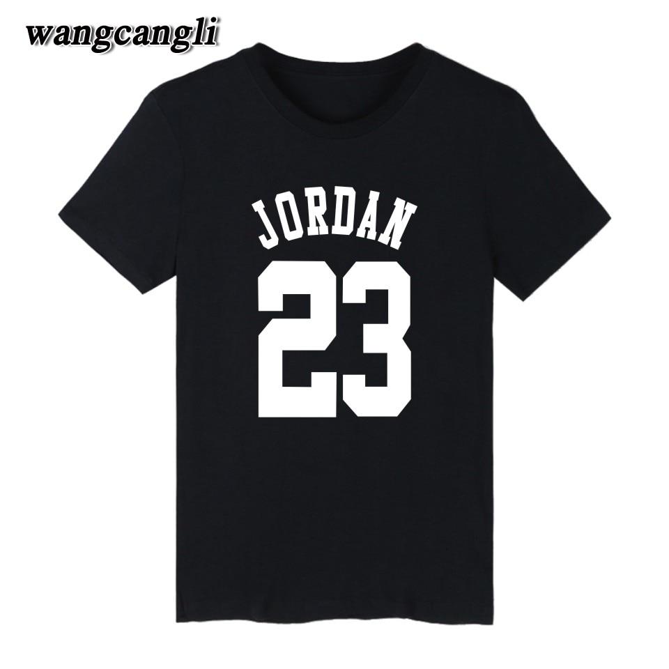 Black t shirt printing - 23 Jordan T Shirt 2017 Fashion Printed 70 Cotton Short Sleeve Couple T Shirt Design
