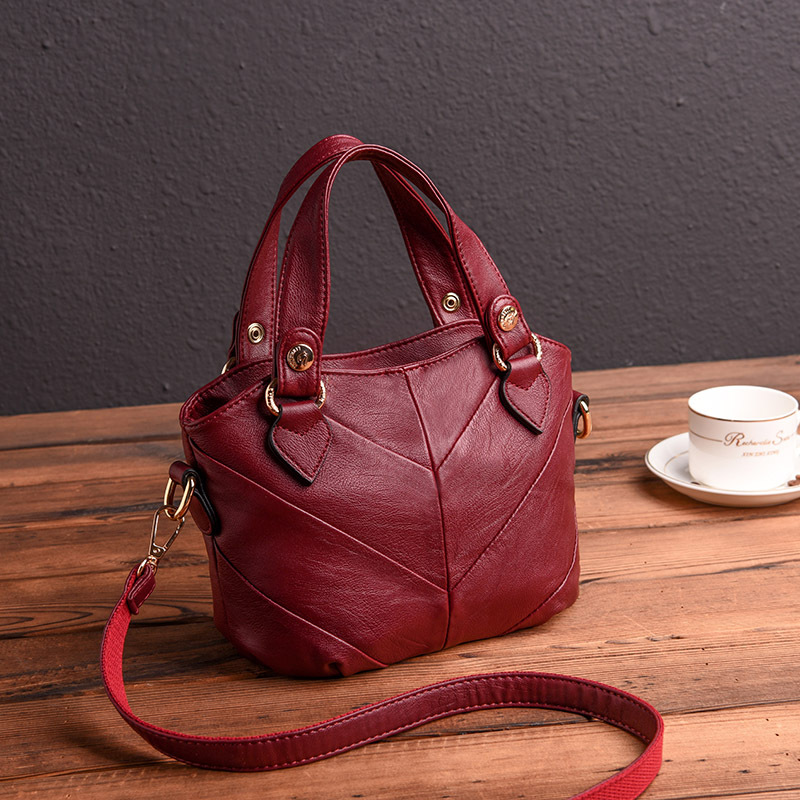 Fashion Patchwork Messenger Bag Hobos Women Tote Bags Women's Genuine Leather Handbags Shoulder CrossBody Bags Ladies veevanv women handbags office lady tote handbag fashion tassels messenger bags ladies leather shoulder bags female crossbody bag