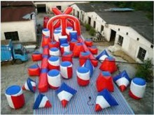 Cheap Outdoor Inflatable CS Paintball Obstacle for CS course game