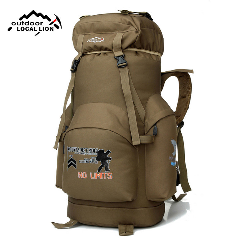 NEW Unisex Large Capacity Nylon Waterproof Outdoor travel Camping bag 70L Mountaineering backpack Camping Bag 3 Colors XA220WD e0902 45l large capacity outdoor mountaineering bag multi function waterproof nylon bracket hiking travel backpack