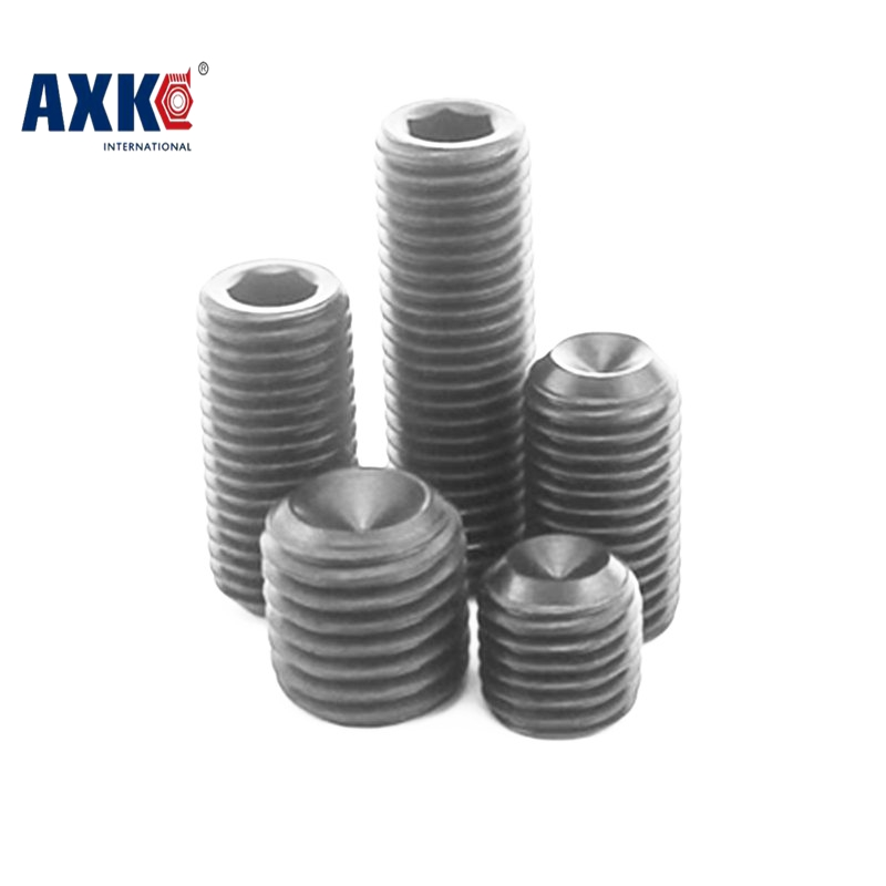 все цены на  Free Shipping 100pcs/Lot M3x3 mm M3*3 mm Alloy steel Hex Socket Head Cap Screw Bolts set screws with cup point  онлайн