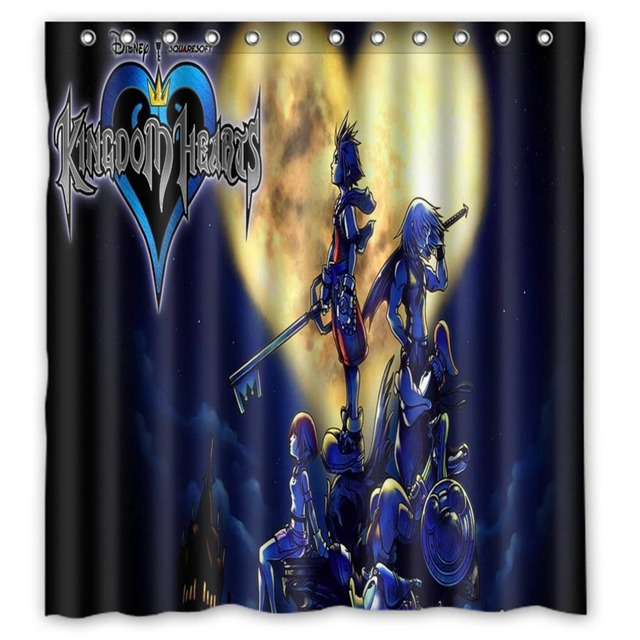 Anime Shower Curtain One Piece Dragon Ball Z Bleach Fairy Tail Naruto Together Free Kingdom Hearts