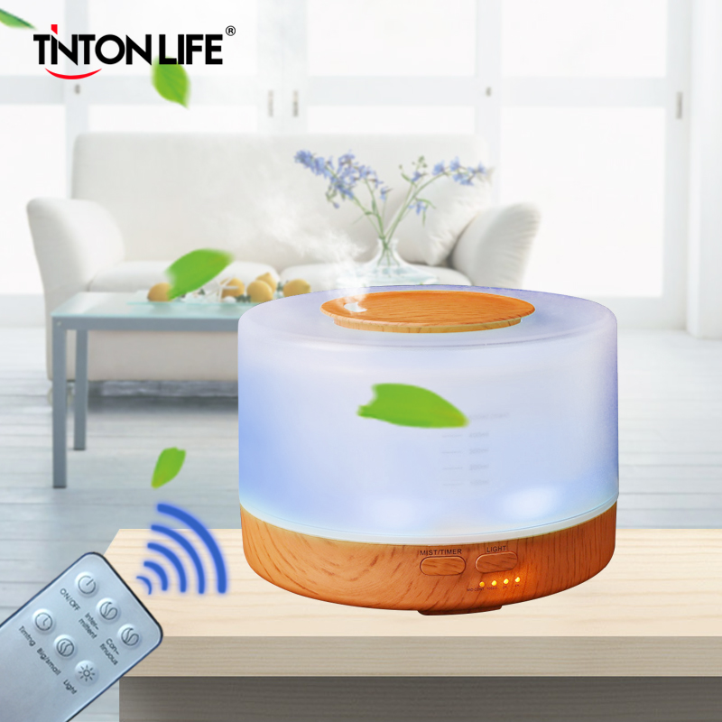 TINTONLIFE Humidifier 500ml Colorful LED Light Aromatherapy Air Humidifier Ultrasonic Mist Maker humidifier 500ml wood grain 110v 220v air humidifier colorful led aromatherapy ultrasonic humidifier