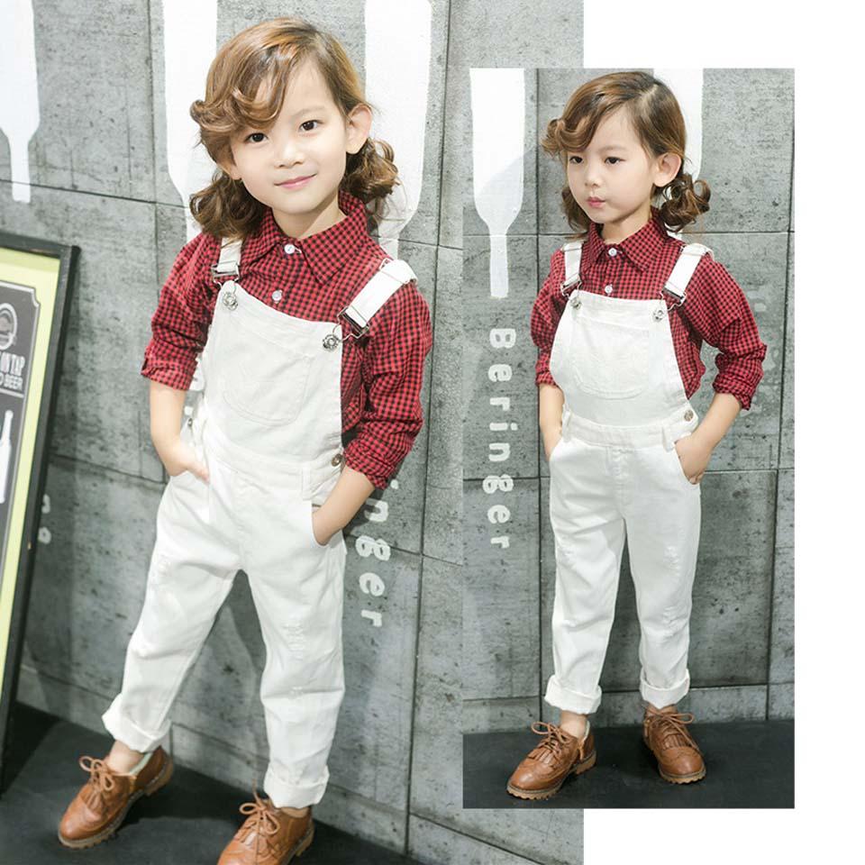 New Baby Boys White Cotton Dress Long Pants Elastic Waist Infant Wedding Party 8