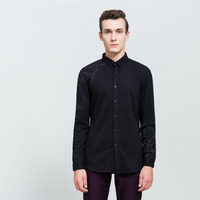 G005 Spring Autumn Features Shirts Men Casual Jeans Shirt New Arrival Long Sleeve Casual Y17