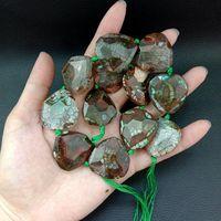 8SE11289 Dragon Veins Faceted Stone 30x30mm Gems Drusy Cut Slice 15.8