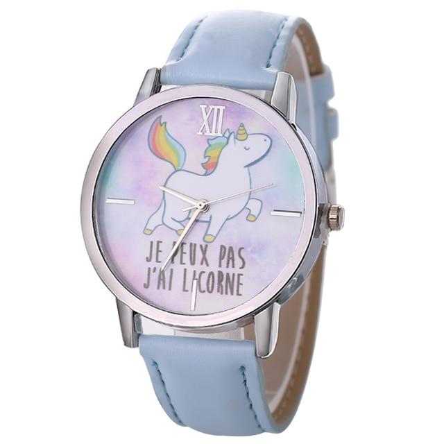 52169e397345 Relogio feminino 2018 lindo unicornio animal relojes para niños chicas  cuero Band analog Alloy cuarzo reloj